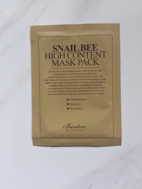 Snail Bee High Content Mask Pack