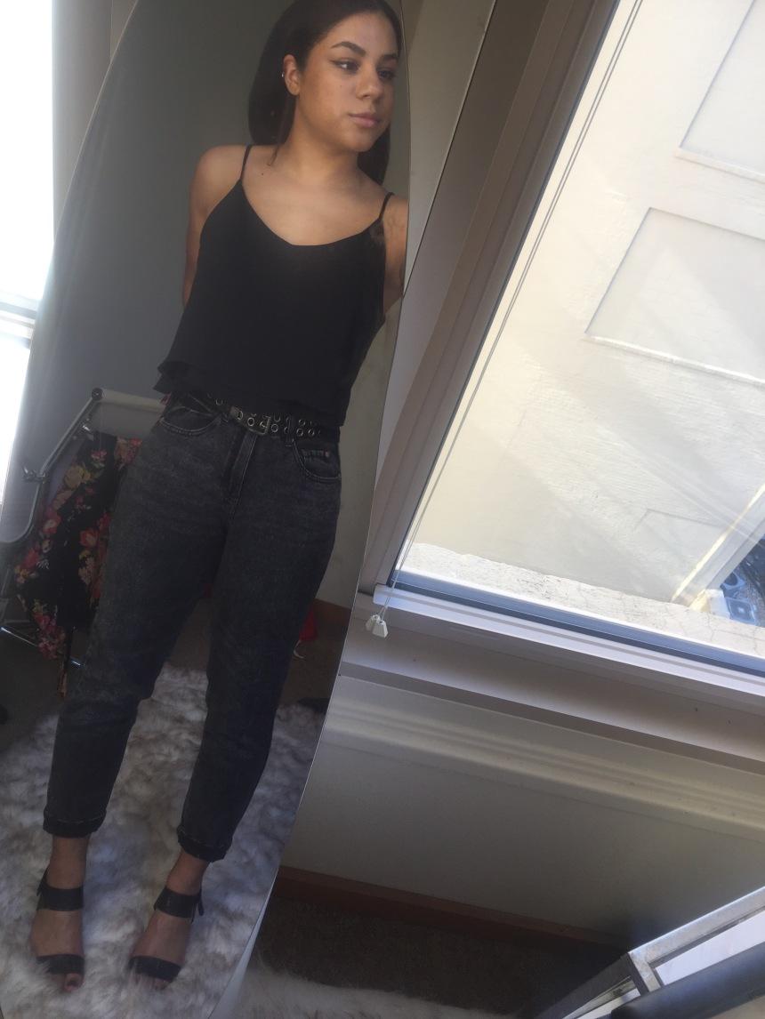 all black ootd - summer