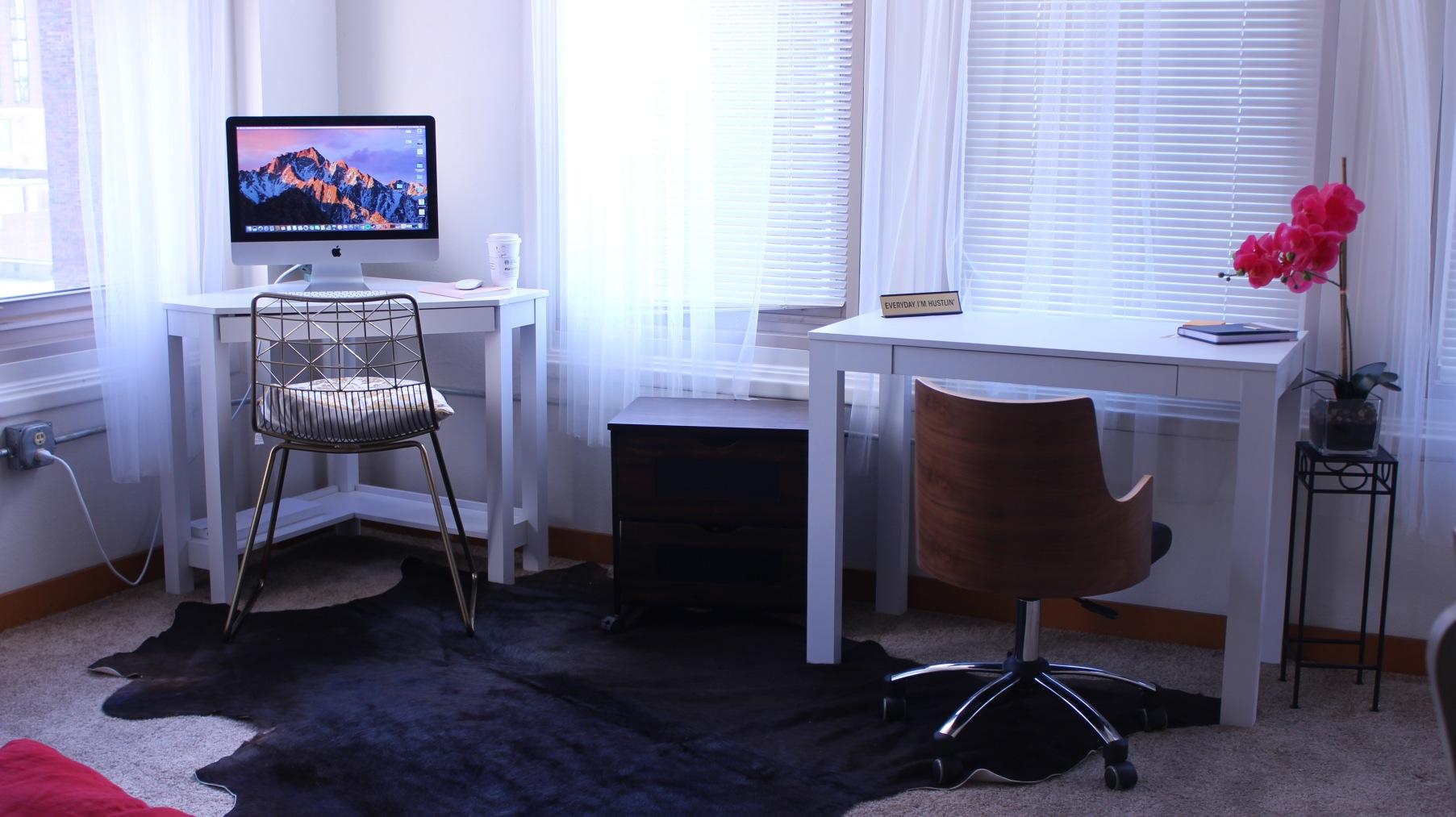 apartment desk home office ideas